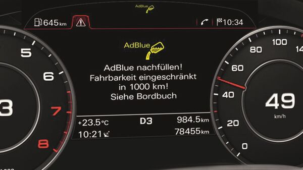 AdBlue® Anzeige am Audi Virtual Cockpit