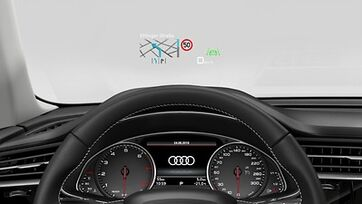 Audi Q7 Head-Up Display Detailansicht